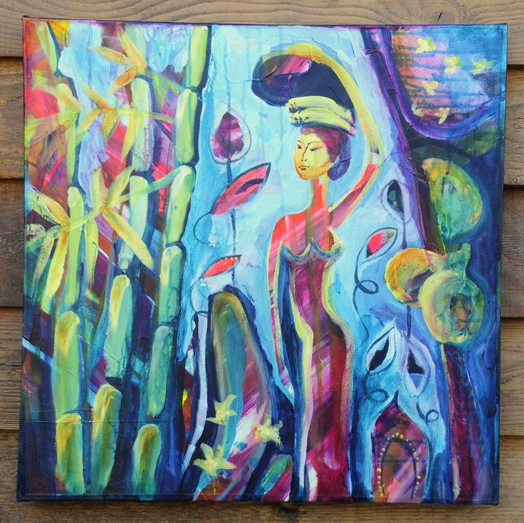 'Woman Walking Through Jungle'