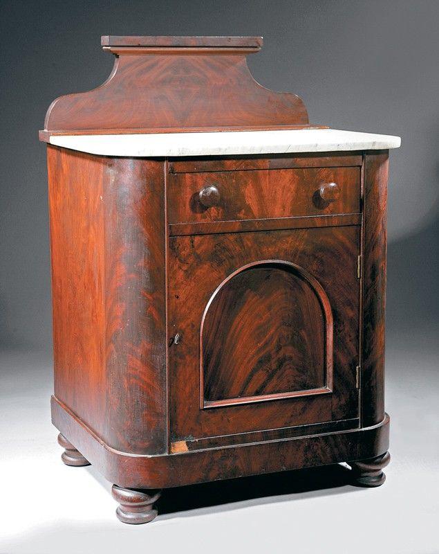 c1835 Empire wash stand, lbl-Richard Cook, Phila, PA, mah, 26w,       http://www.ebay.com/usr/circa19century