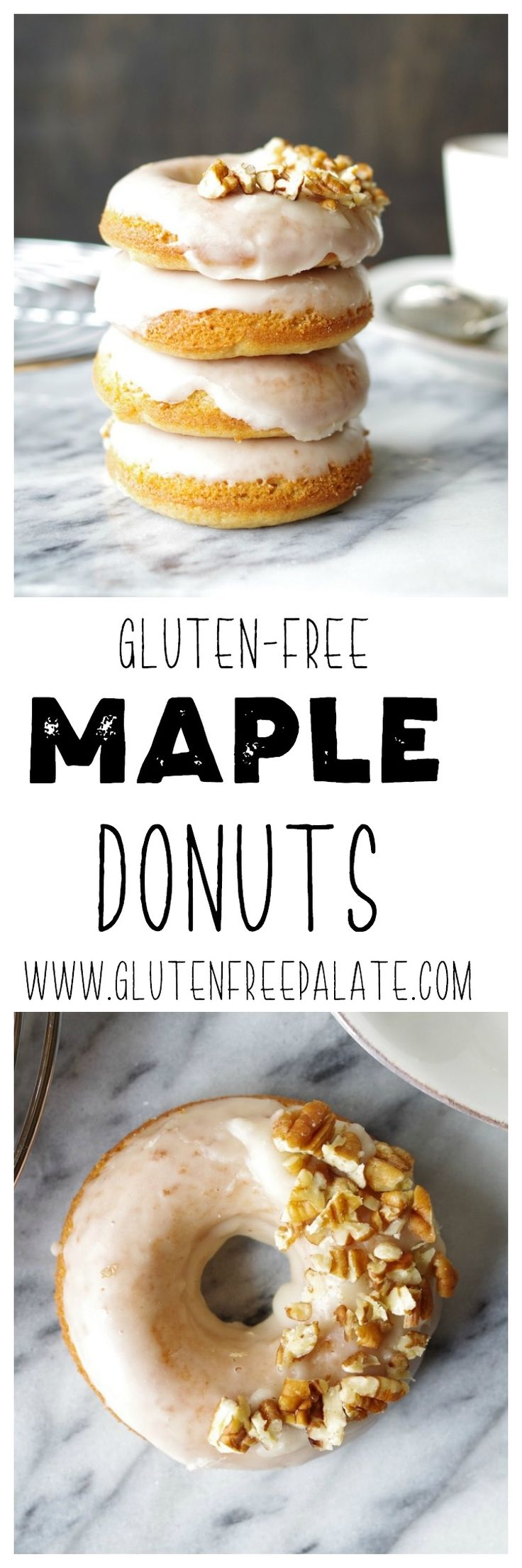 Made from scratch and fresh out of the oven, these Gluten-Free Dairy-Free Maple Donuts will warm your heart and your belly. via @gfpalate