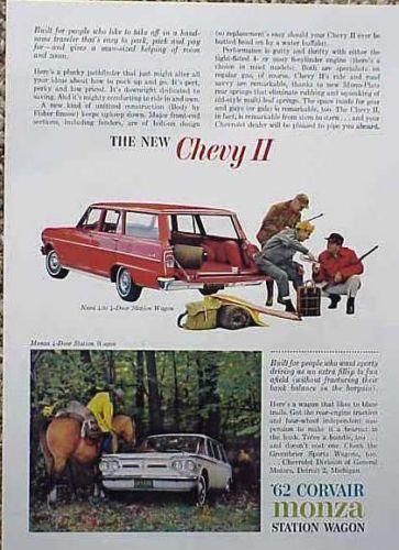 Jack Schmitt Chevrolet Wood River Il >> 1962 Chevy Wagon Nova II Original Old Ad   Cool Cars (and ...