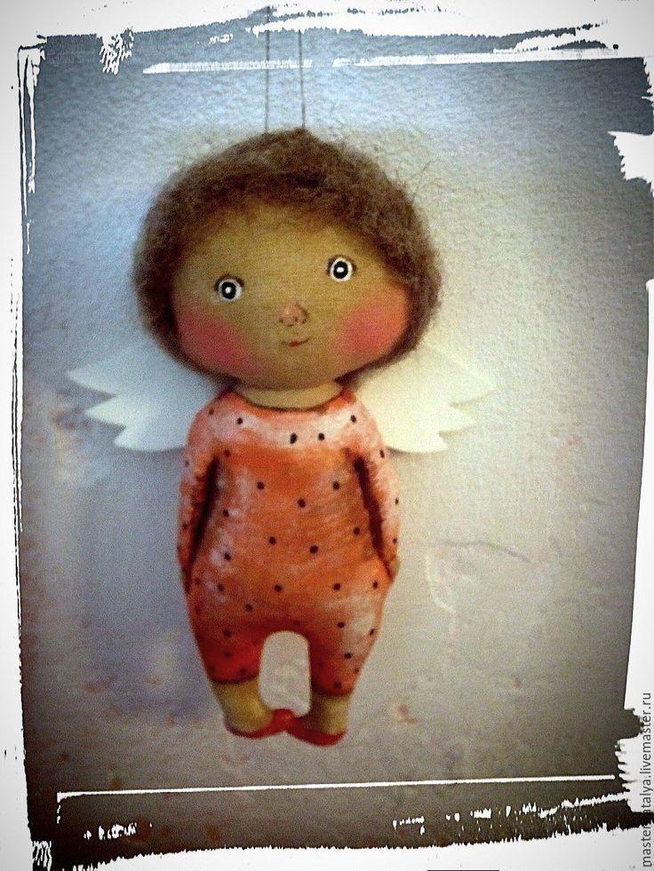 Купить ангел.. - комбинированный, ангелочек, ангел, ангел-хранитель, текстильная кукла, грунтованный текстиль