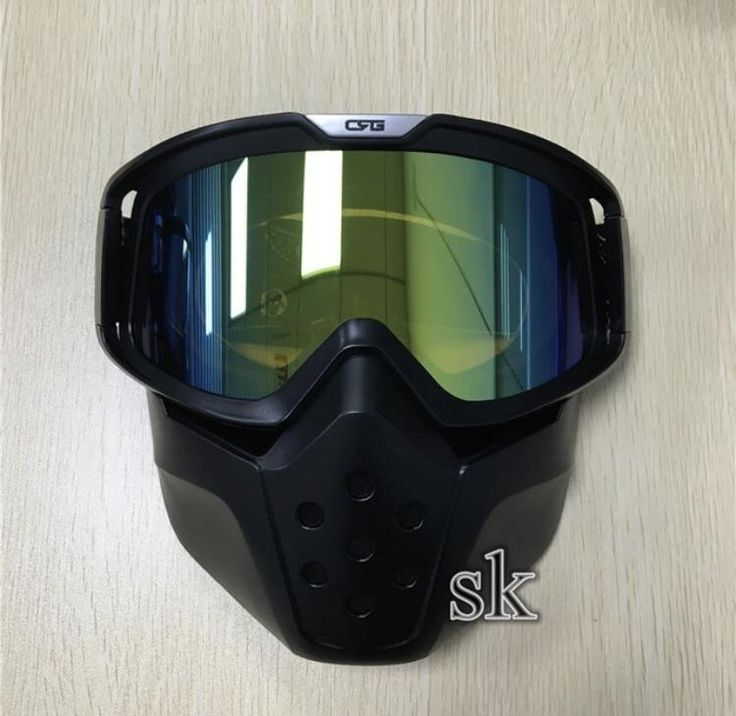 Motorcycle Face Mask And Goggles
