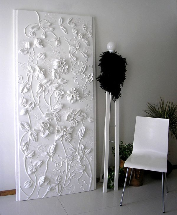 White panno by Zoya Olefir, via Behance < Wall decor doesn't begin to describe the beauty!