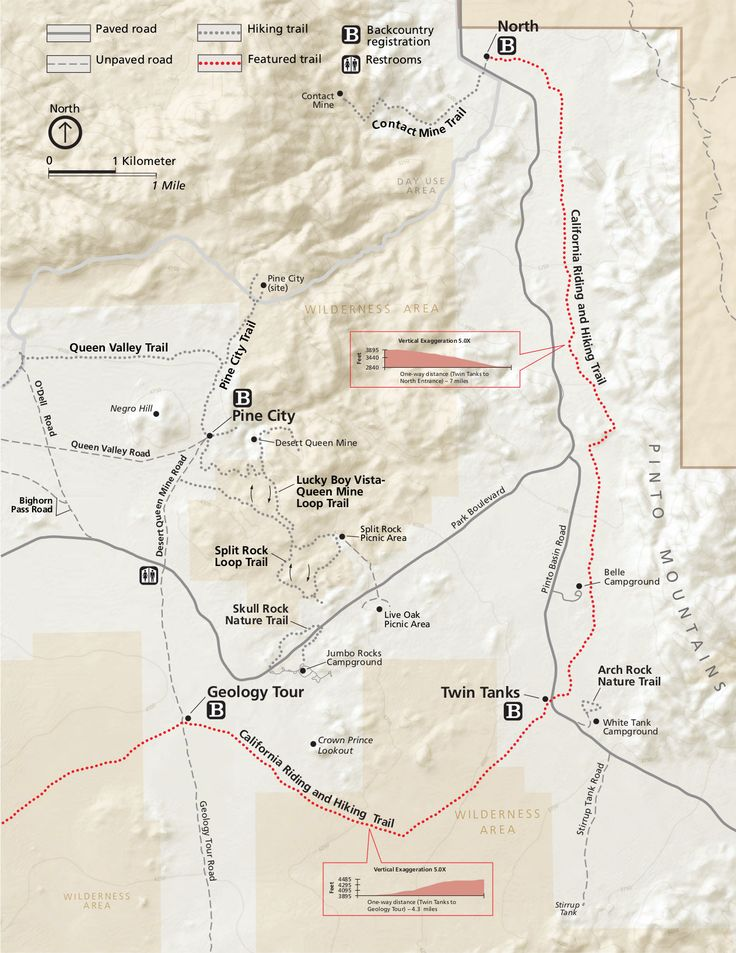 35 best Joshua Tree National Park Maps images on Pinterest Joshua
