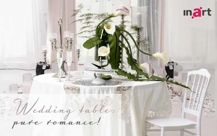 Getting married? Congratulations! To celebrate the beautiful wedding season ahead the #inart team has created a gorgeous table décor, you can easily recreate for your special day. Read all about it here http://www.inart.com/en/blog/wedding-table-pure-romance.html