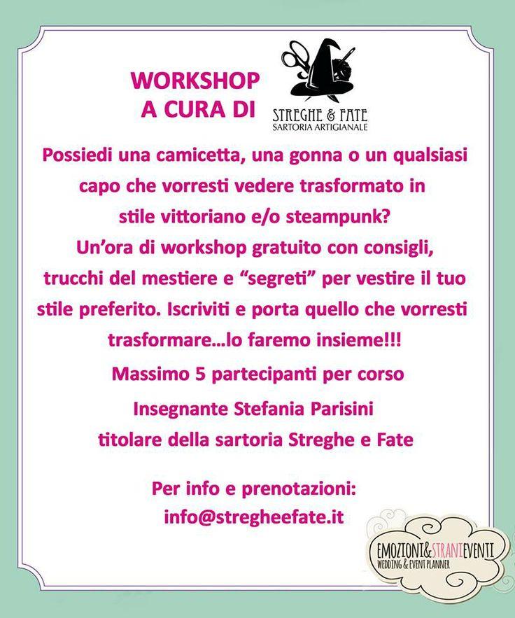 Workshop gratuito (su prenotazione) per realizzare un capo vittoriano o steampunk partendo da uno moderno.