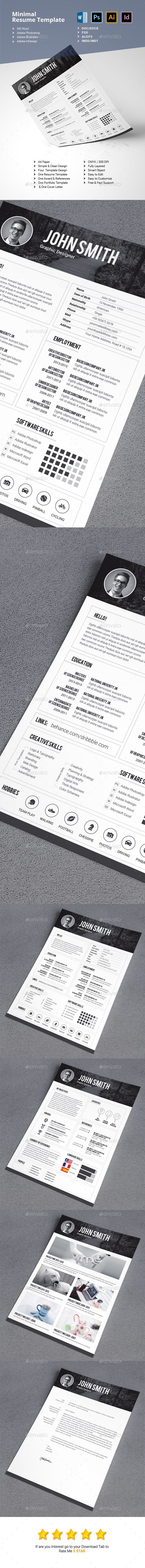 Minimalist Resume Template by WhiteGraphic 31 best