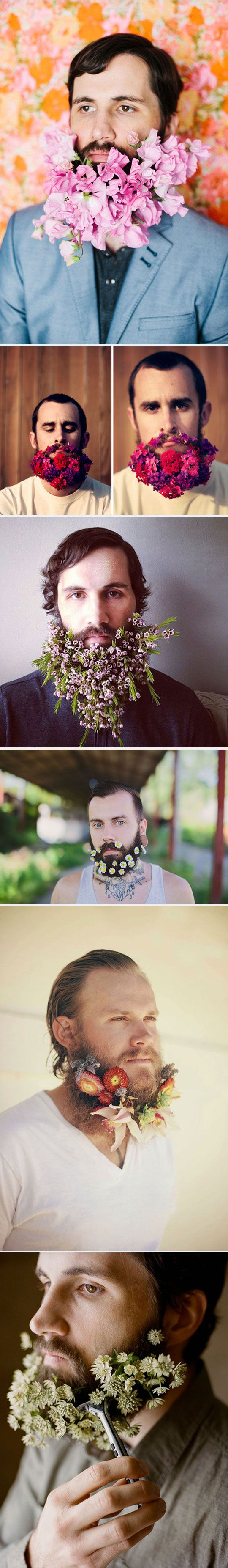 Fabulous Men With Flower Beards