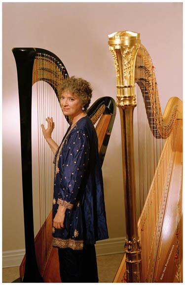 Erica Goodman is acclaimed as one of the world's outstanding solo harpists. She received her training at the Royal Conservatory of Music, Interlochen, and the Curtis Institute of Music. As Canada's foremost studio harpist, Erica Goodman has played in hundreds of radio and TV productions, commercials and film scores.