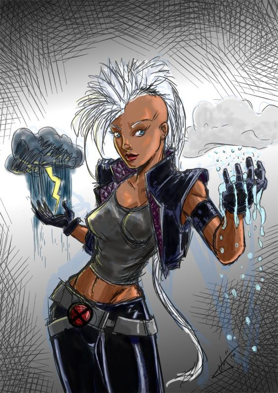 Punk Costume For Storm