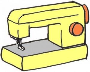 basisvorm naaimachine karton sinterklaas surprise