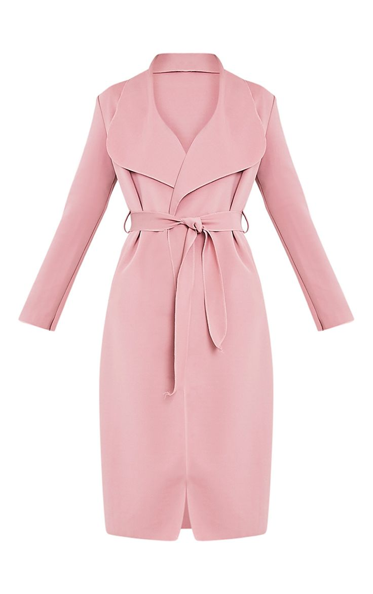 Rose Scuba Waterfall Coat Layer up your new season look with this contemporary scuba fabric coat...
