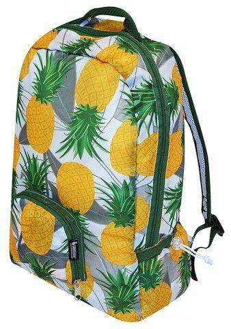 PAKitToMe Pineapple Rucksack £12.00 Bright Hawaiian Pineapple pattern print backpack. #envirotrend #environment #rucksack
