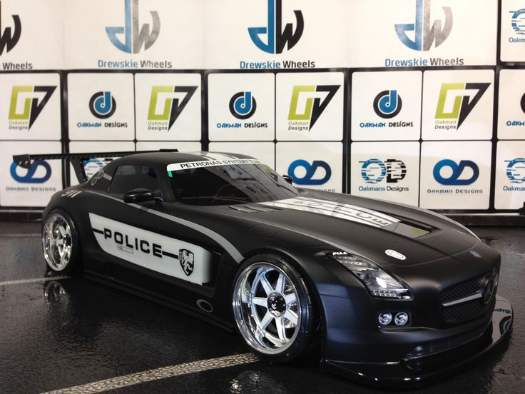 Oak-man Designs  Tamiya 190mm Mercedes Benz SLS AMG GT3  911 Police (custom scheme)