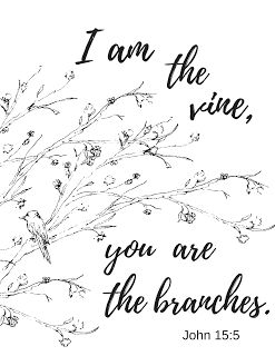 I am the vine, you are the branches John 15:5 Get the