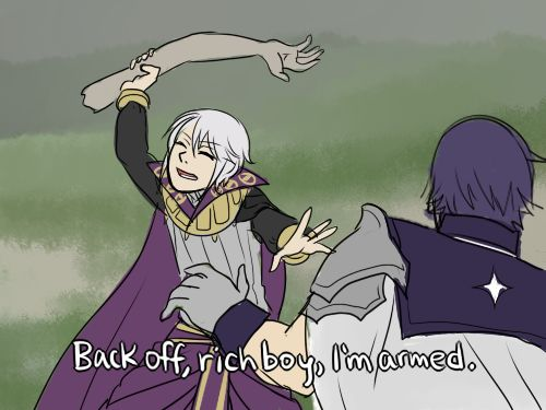 FE:A - Henry and Chrom / This sounds like it actually would happen in the game..
