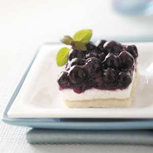 Blueberry Torte squares - it is not something you can make last minute, but  it is SOOO worth the time!