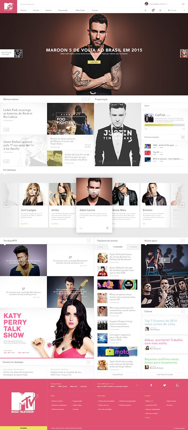 MTV Brazil Website Redesign   Abduzeedo Design Inspiration