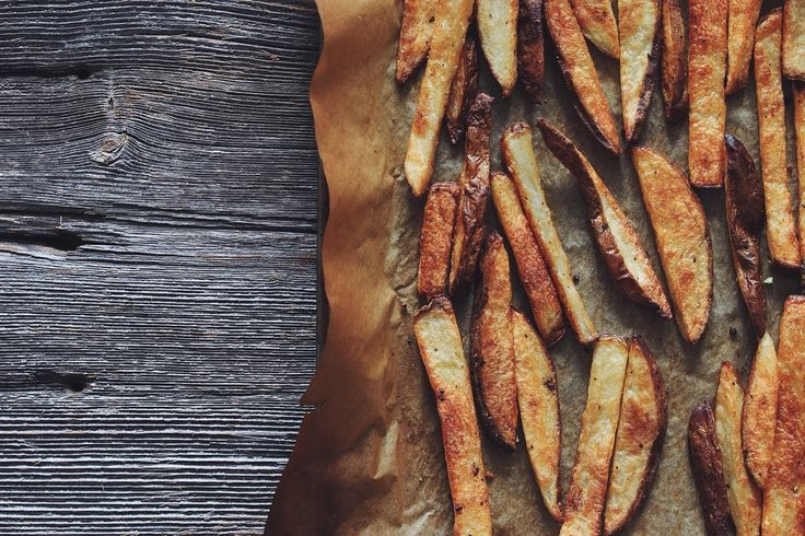 it doesn't get much better than homemade baked french fries!