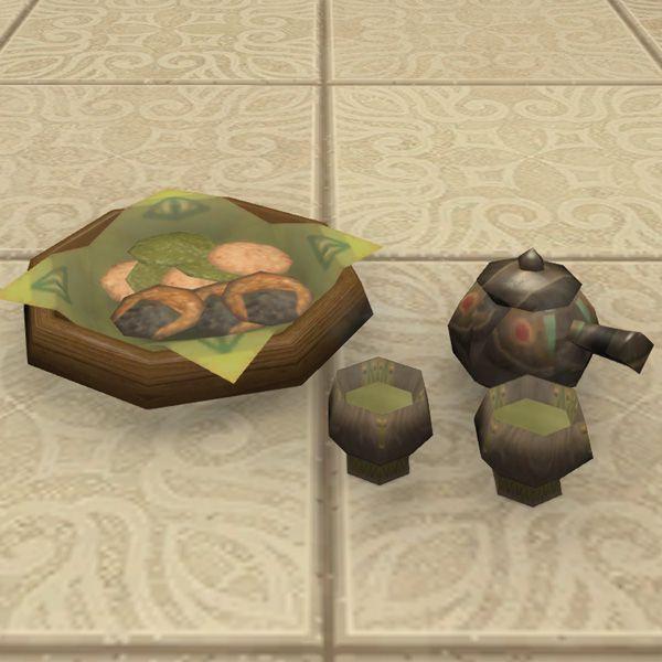 Oriental Tea Set Ffxiv Housing Tabletop In 2020 Tea Set Oriental Decorative Boxes