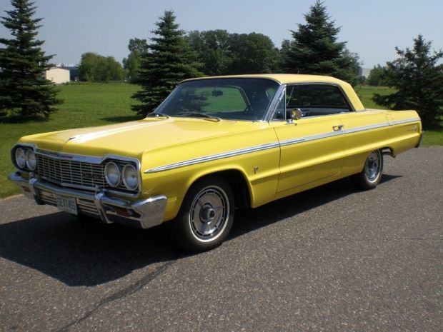 1964 Chevrolet Impala, with black interior, was one of my favorites.... 64...62...68.... Oh can't forget the 66...