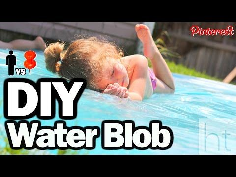 ▶ DIY Water Blob - Man Vs. Pin #25 - YouTube fusing plastic drop cloth with a clothes iron