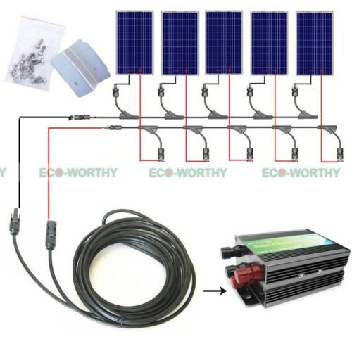 >> Click to Buy << 500W Off Grid System Complete Kit: 5*100W Poly PV Solar Panel with 45A Controller for 12v Battery #Affiliate