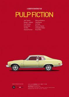 Cars and Films é um projeto que apresenta uma série de poster que reúnem duas das paixões de Jesús Prudencio, filmes e carros. Jesús é designer gráfico e ilustrador freelancer que vive em Sevilha, Espanha.