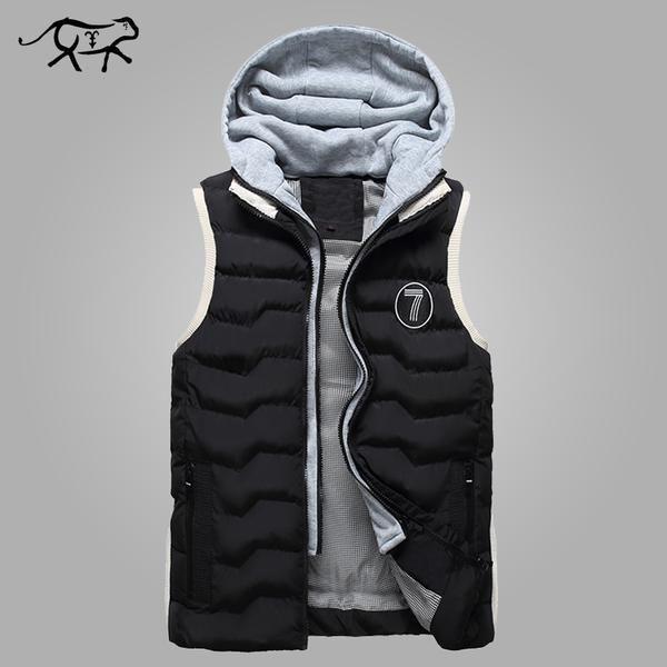Men's Vest Fashion Slim Fit Winter Sleeveless Jacket Men Autumn Hooded Waistcoats… #BlackFriday is coming early #BestPrice #CyberMonday