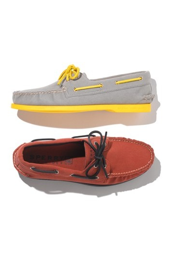 Classic Father's Day gift with a twist: Original Sperry's with a pop of neon