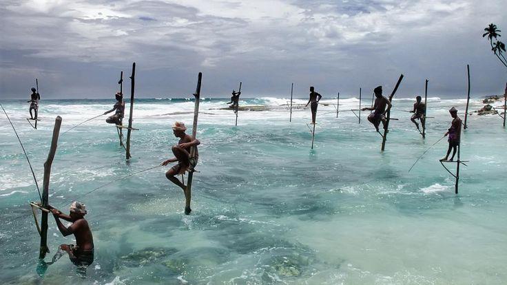 Ψαράδες στη Σρι Λάνκα.  ©Pascal Mannaerts