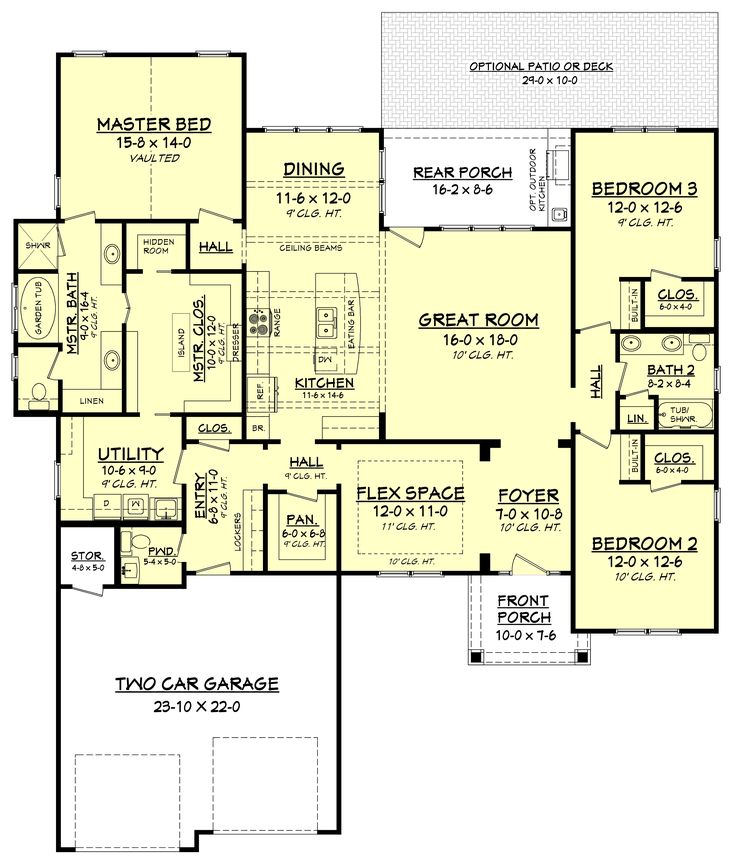 this craftsman style house plan has an amazing floor plan the private master suite offers - Floor Plans For Houses