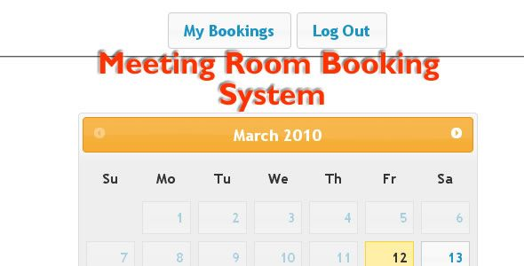 Meeting Room Booking System Php