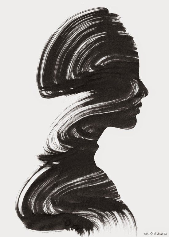 Black And White Art Of Woman