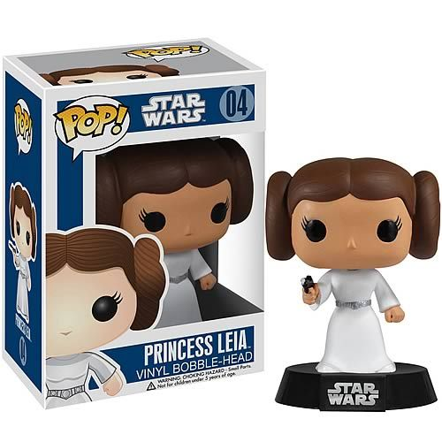 "Funko POP Vinyl Star Wars Princess Leia - ""Help me, Obi-Wan Kenobi; you're my only hope."""