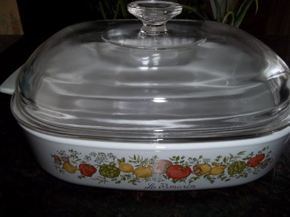 Pyrex /Corning Ware Spice of Life A10B With Pyrex by PyrexKitchen, $39.00