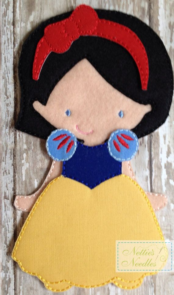 Snow White Princess Felt Doll Outfit by NettiesNeedlesToo on Etsy, $8.00