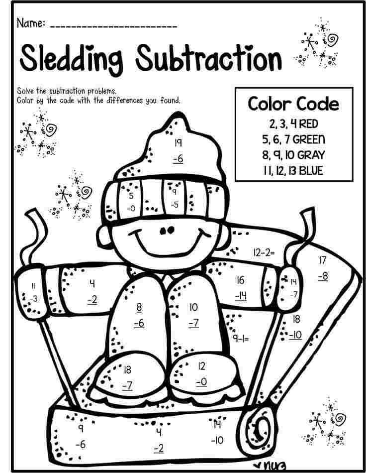 Free Math Coloring Pages For 1st Grade Winter Math Literacy Matematika Kelas Dua Matematika Kelas Satu Fakta Matematika
