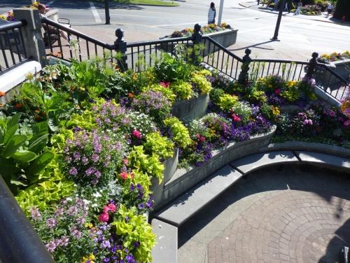 14 best Tiered gardens images on Pinterest   Backyard ideas, Garden Flower Designs For Raised Garden B E A on