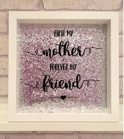 first my mother forever my friend / handmade gift / mothers day / mums birthday / personalised gift for mum / handmade frame for mum by Kayleighskeepsake on Etsy