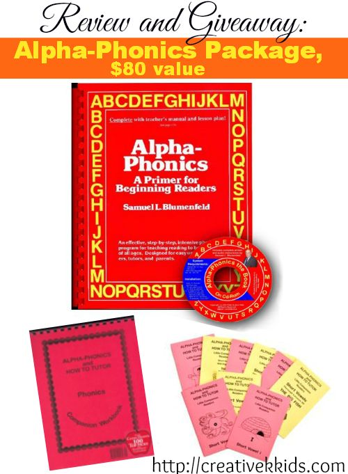 Alpha Phonics review and giveaway, $80 value