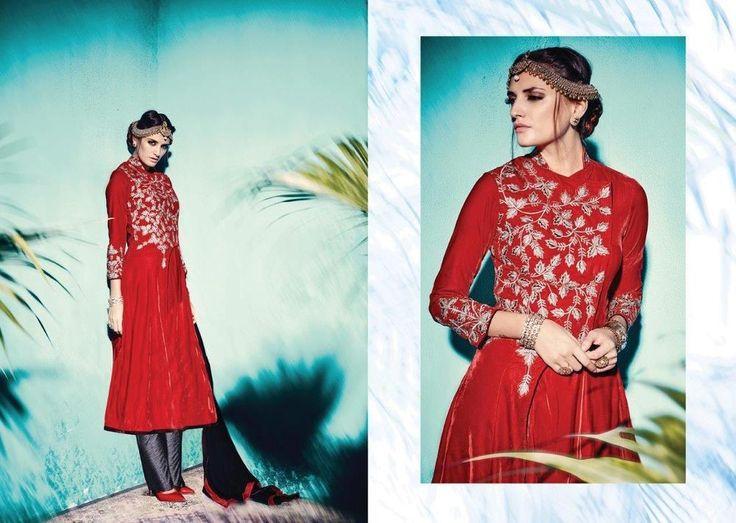 Pakistani Wedding Party Indian Bollywood Designer Anarkali Salwar Kameez Red  #KriyaCreation #SalwarSuit