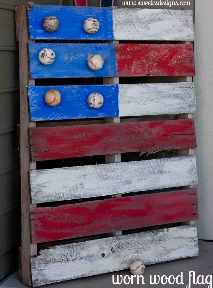 Fun: Idea, Stars, Boys Rooms, Pallets Flags, Wooden Pallets, Baseball Flags, Wood Flags, Old Pallets, Pallets Projects