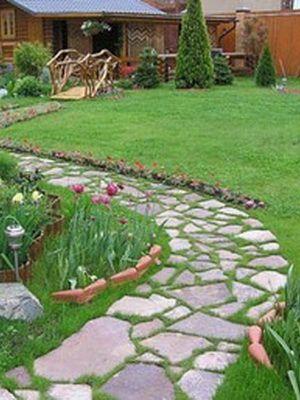 Дорожки в саду своими руками: фото садовых дорожек, как ...
