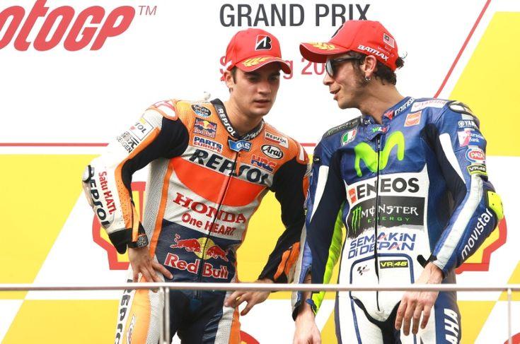 Pedrosa and Rossi, Malaysian MotoGP 2015