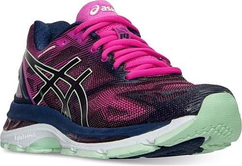Asics Women's Shoes in Indigo Blue Color. Asics Women's Gel-Nimbus 19 Running Sneakers by Finish Line Shoes