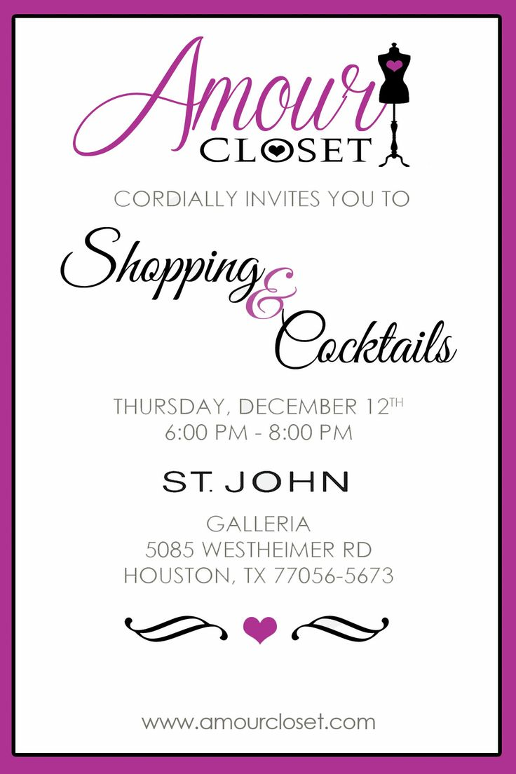 Private Shopping Event Invitation Party Ideas