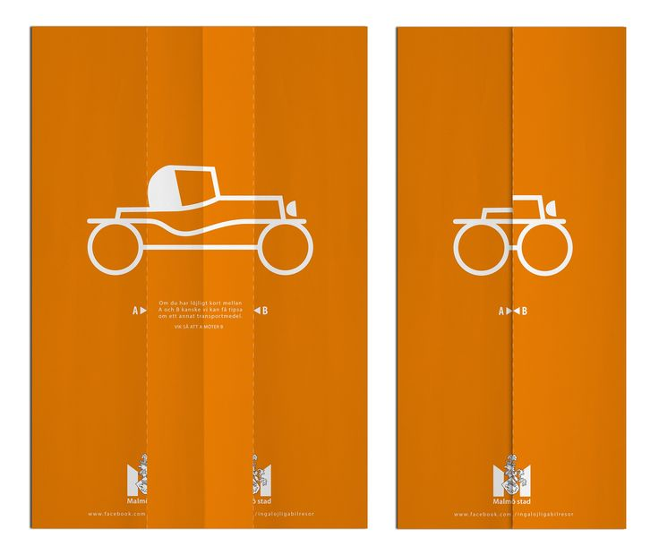 May we suggest another mode of transport when it's really short between A and B. // Ad for: City of Malmö