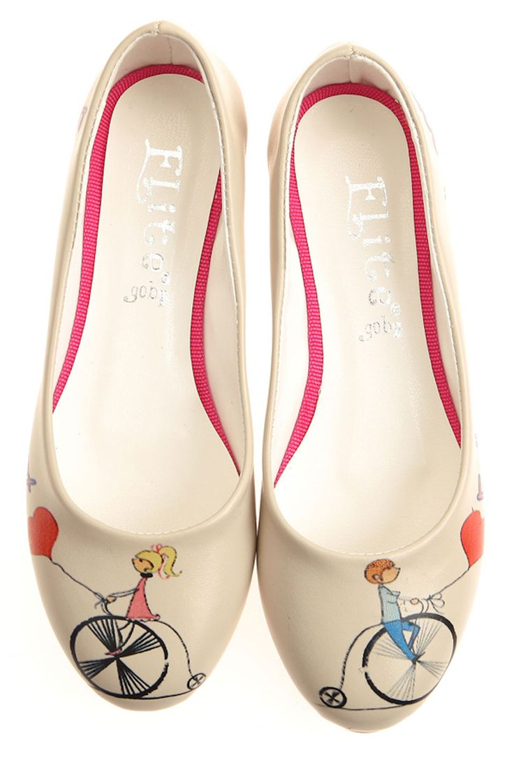 Elite Goby Bicycle Balloon Flats in Multicolor - Beyond the Rack