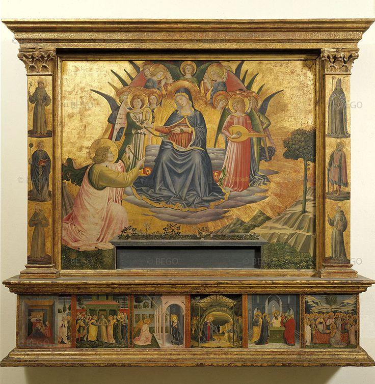 Benozzo Gozzoli - Madonna della Cintola e storie della Madonna nella predella - Tempera su tavola - 1450 - Pinacoteca, Vaticano.